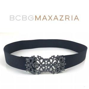 ❤️ BCBGMAXAZRIA Crystal Embellished Stretch Belt